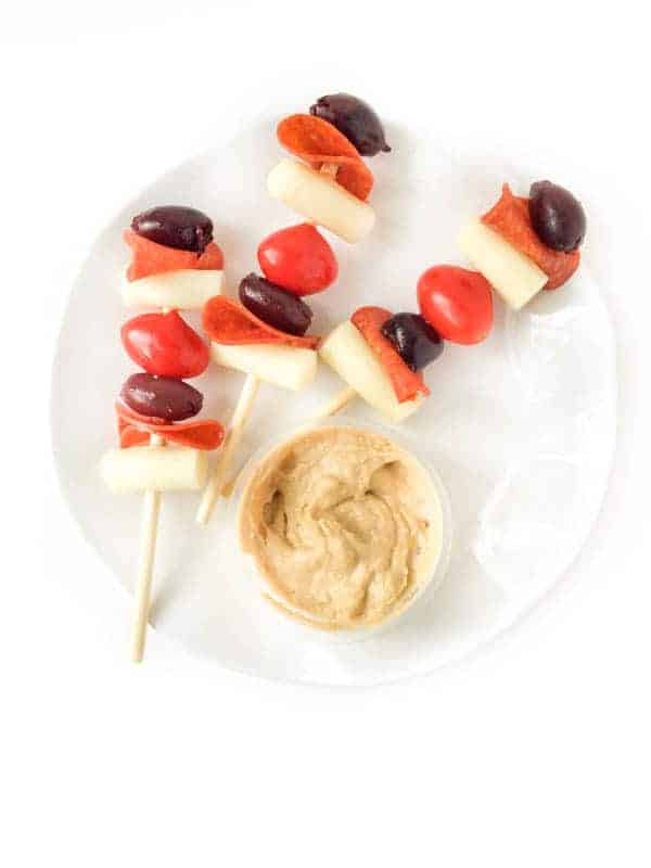Deconstructed Pizza Skewers - The Lemon Bowl