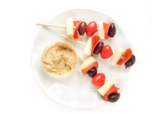Deconstructed Pizza Skewers by The Lemon Bowl