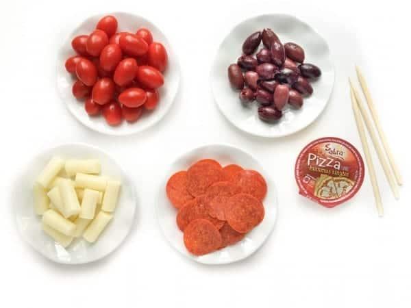 Pizza Skewers Ingredients - The Lemon Bowl