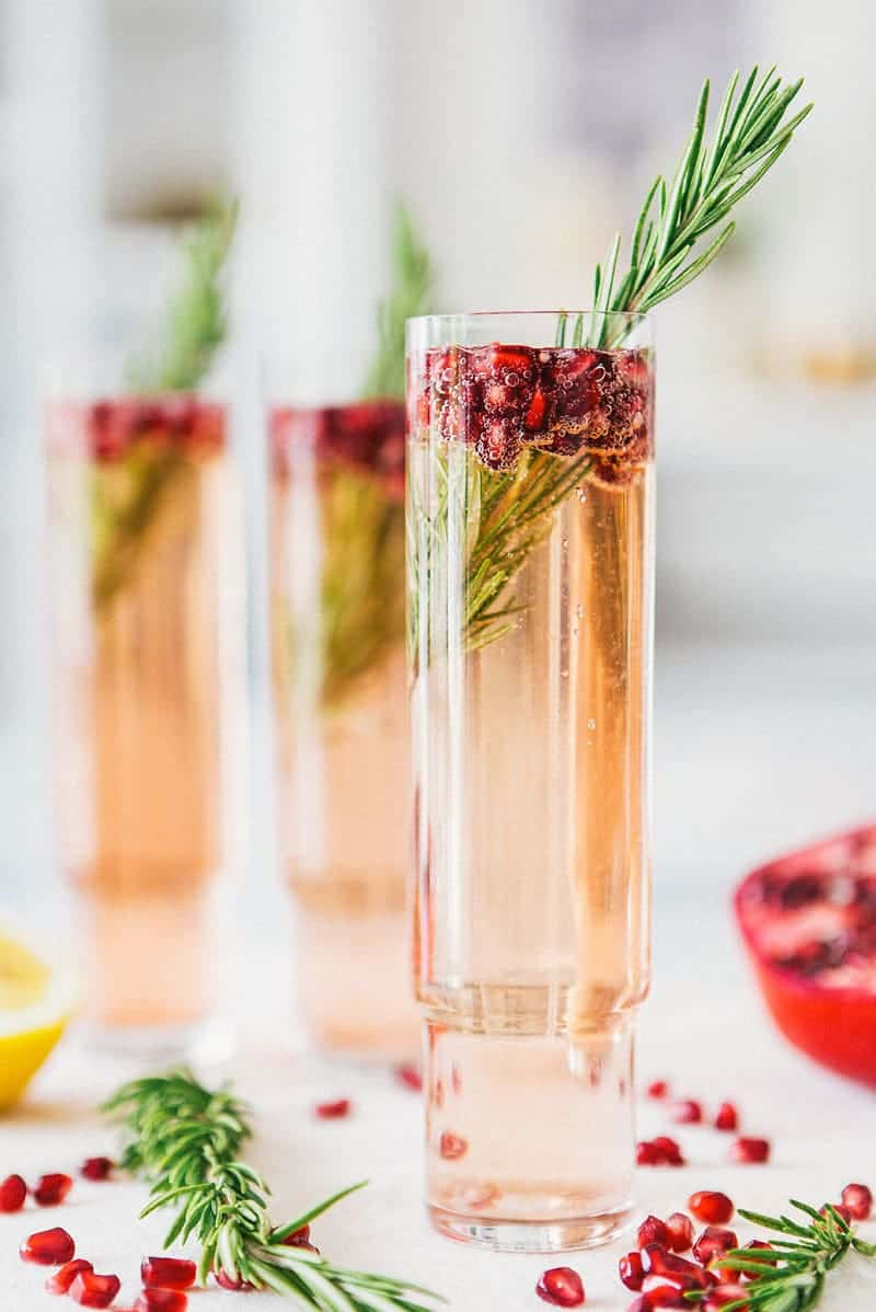 Pomegranata Rosemary Spritzer - A House in the Hills