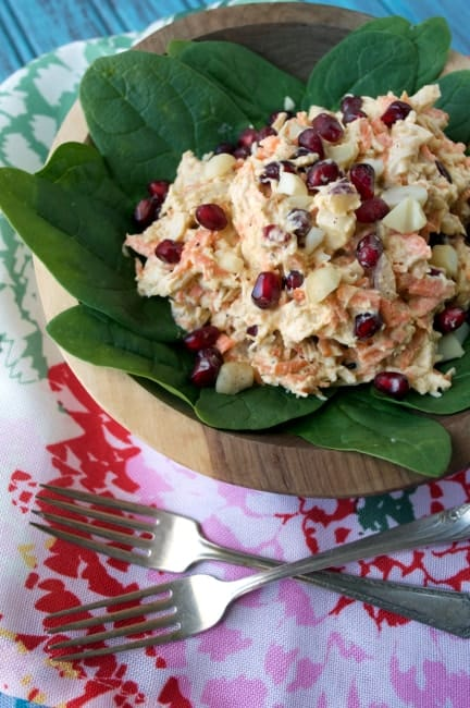 Pomegranate Chicken Salad - Plaid and Paleo