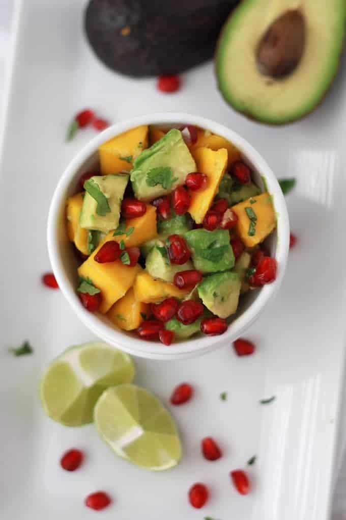 Pomegranate Mango Salsa - Bless This Mess