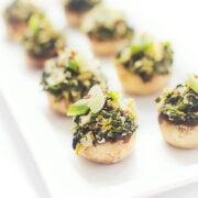 Spinach Artichoke Dip Stufed Mushrooms - Easy party appetizer recipe