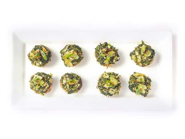 Spinach and Artichoke Stuffed Mushrooms - A healthy appetizer recipe