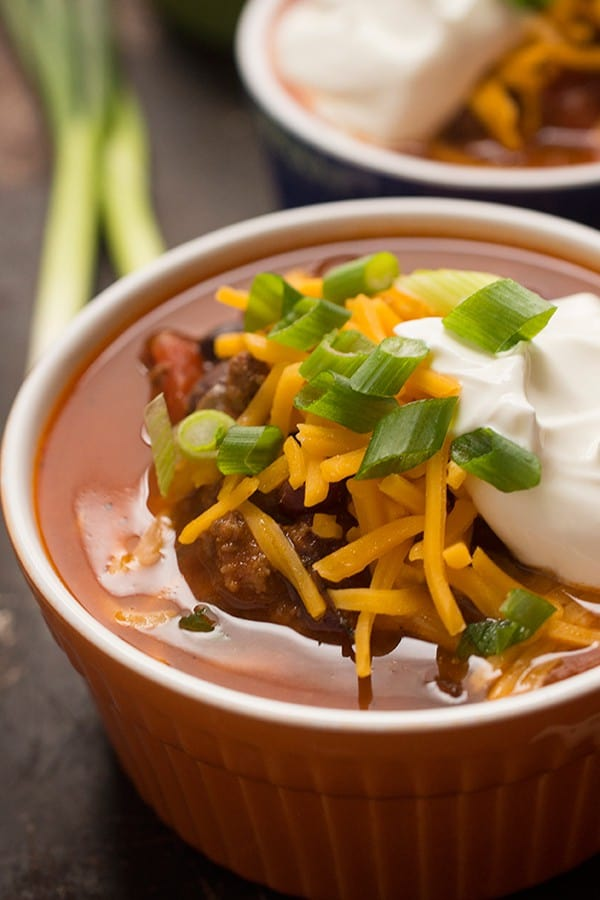 Bison Chili - A hearty, protein-packed chili soup recipe