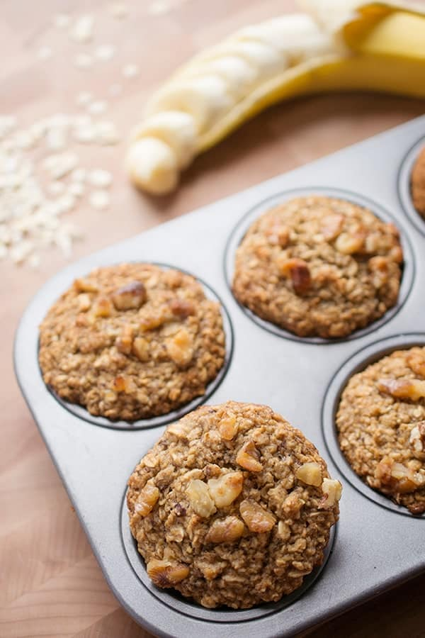 Gluten Free Banana Oat Muffins - a healthy breakfast recipe