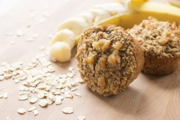 Gluten Free Banana Oatmeal Muffins - These moist and chewy whole grain muffins are naturally gluten free