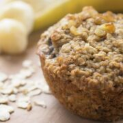 Gluten Free Oatmeal Banana Muffins - a healthy, moist and naturally gluten free baked good recipe