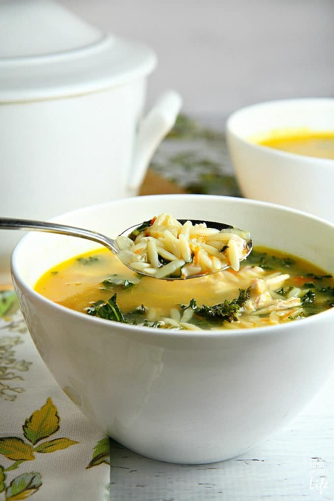 Lemon-Chicken-Orzo-Soup - A Dish of Daily Life
