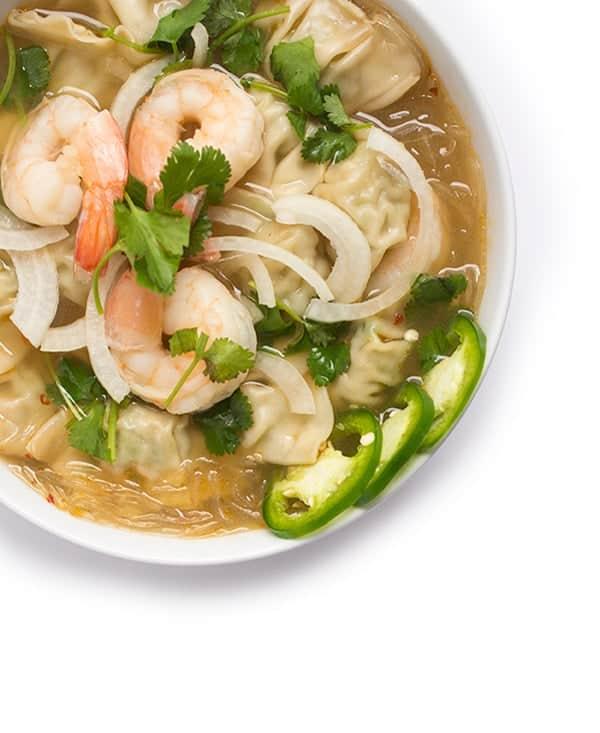 Shrimp Noodle Soup with Wontons - a quick Asian soup recipe