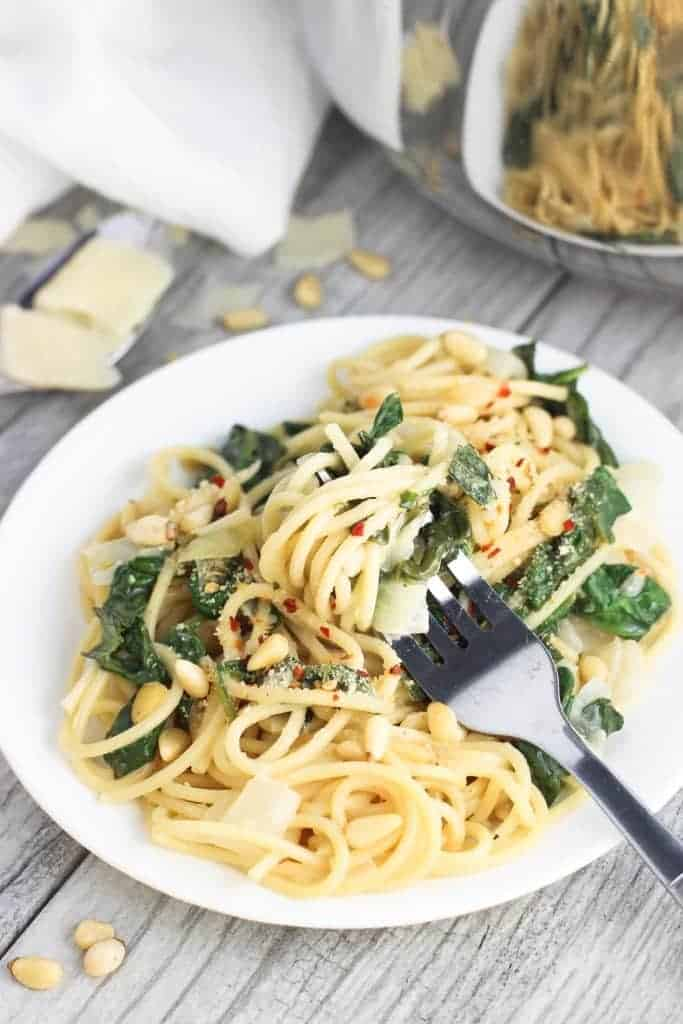 creamy-lemon-spinach-one-pot-pasta - My sequined life