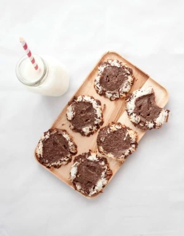 5-Ingredient-Chocolate-Coconut-Cookies- Sweet Phi