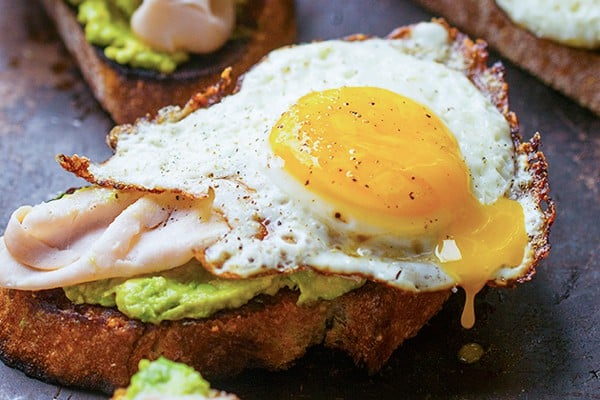 Avocado Toast with Runny Egg and Smoked Turkey - a protein-packed recipe