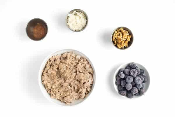 Blueberry Muffin Oatmeal Bowl Ingredients