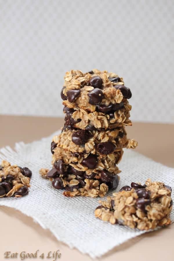 Gluten Free Vegan Banana Chocolate Chip Cookies - Eat Good 4 Life