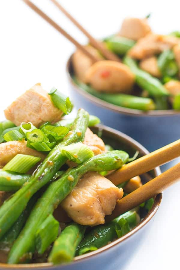 Chicken Green Bean Stir Fry - an easy and fast dinner recipe