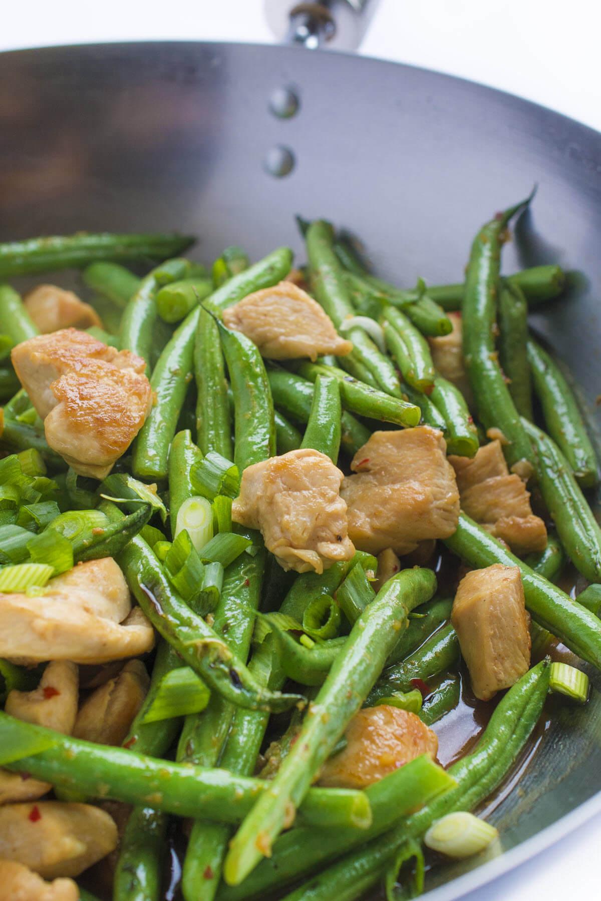 Chicken Green Bean Stir Fry closeup