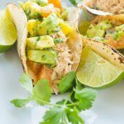 Chicken Tacos with Avocado Citrus Salsa - an easy and delicious taco recipe