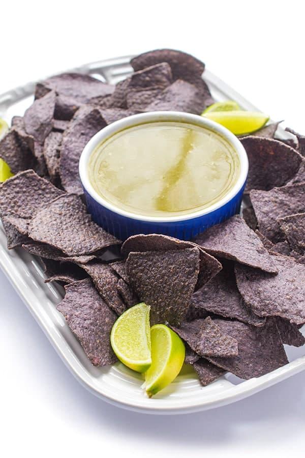 Five Ingredient Green Salsa - an authentic salsa verde recipe