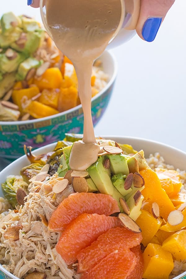 Grain Bowls with Chicken and Veggies - a healthy meal in a bowl