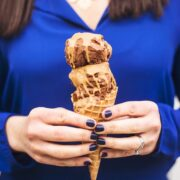 Peanut Butter Magic Shell - a two ingredient ice cream dessert recipe