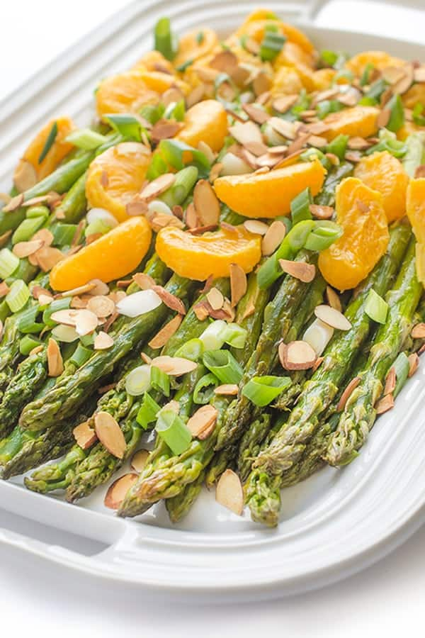 Roasted Asparagus and Tangerines - a fresh spring side dish recipe