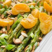 Roasted Asparagus with Tangerines - a fresh and healthy spring side dish recipe