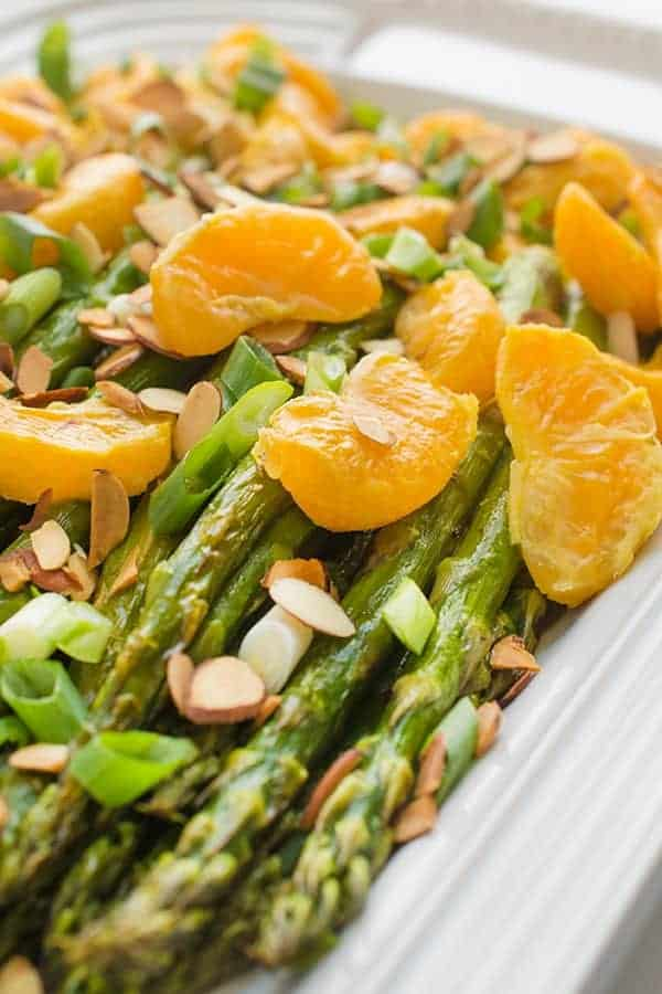 Roasted Asparagus with Tangerines