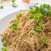 Asian Citrus Slow Cooker Shredded Chicken