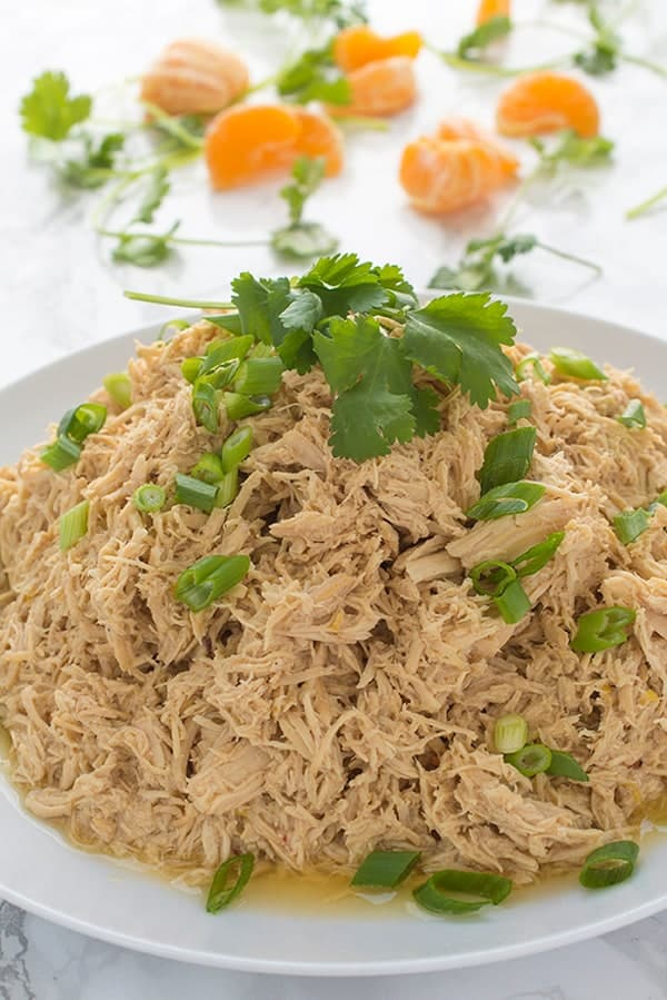 Slow Cooker Shredded Chicken - a healthy dinner recipe