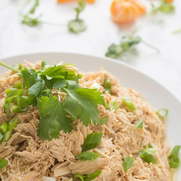 Slow Cooker Shredded Chicken - an Asian-insipred pulled chicken recipe