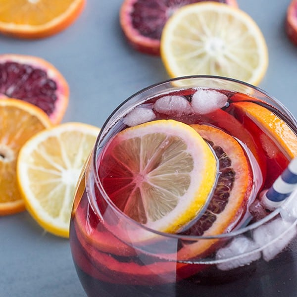 5-Ingredient Fruity Sangria - a classic Spanish cocktail recipe