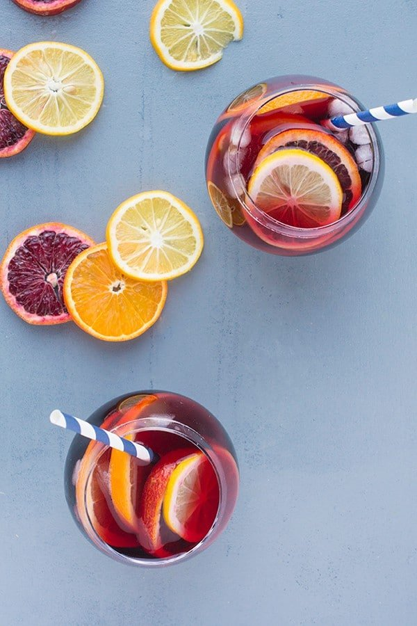 Five Ingredient Fruity Sangria - a classic Spanish cocktail recipe
