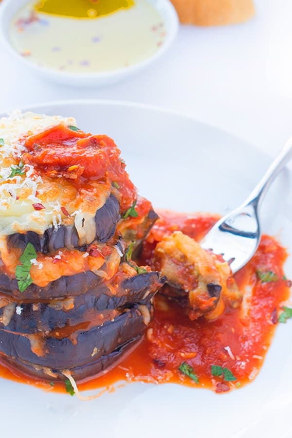 Grilled Eggplant Parmesan - a healthy vegetarian dinner recipe