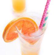 Orange Ginger Spritzer - a fruity non-alcoholic drink recipe