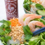 Vietnamese Vermicelli Noodle Bowls with Shrimp - a fast dinner recipe