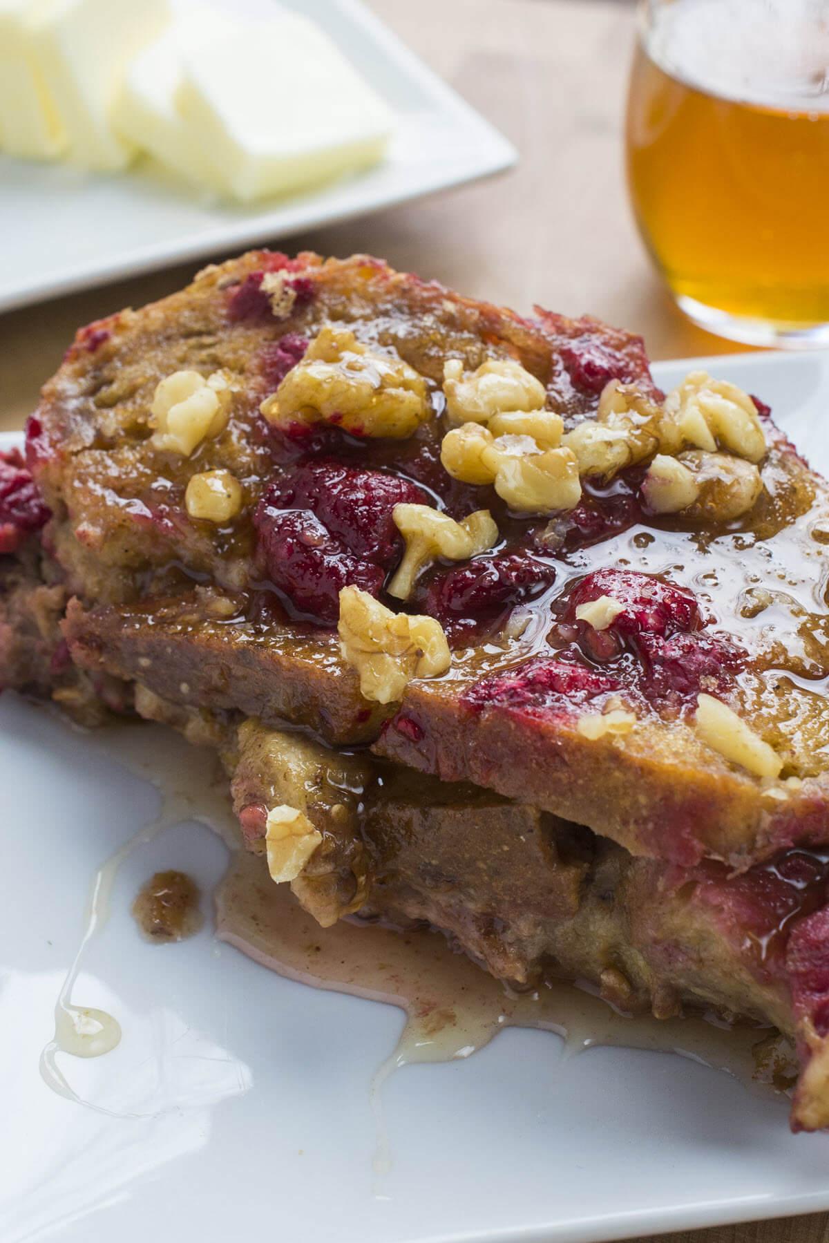 Apple Raspberry French Toast