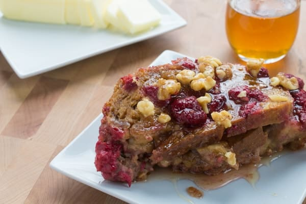 Apple Raspberry French Toast Bake- an easy, make-ahead breakfast recipe