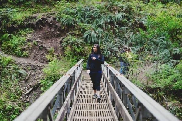 Bridge in Oneonta Gorge in Hood River