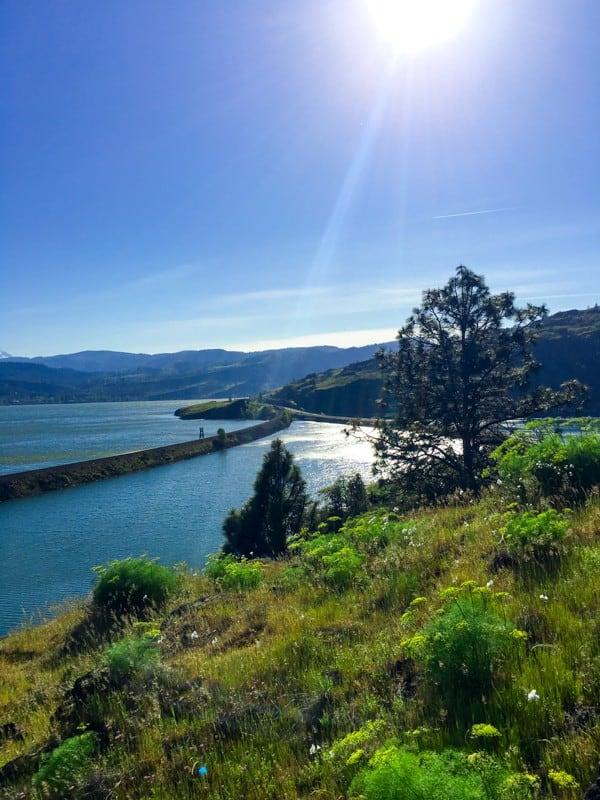 Columbia River in Hood River Oregon