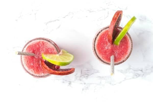 Frozen Blood Orange Margaritas - a delicious cocktail recipe