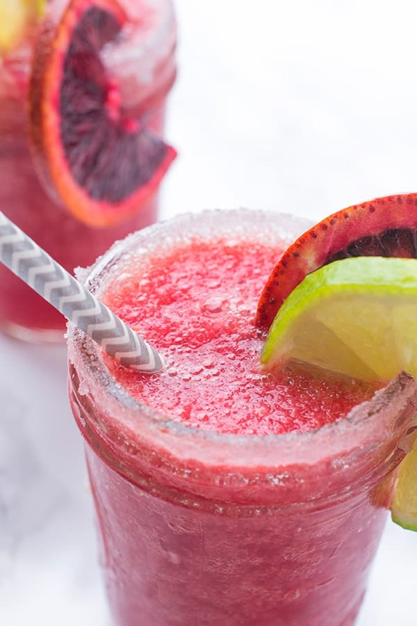 Frozen Blood Orange Margaritas - a fresh and easy cocktail recipe
