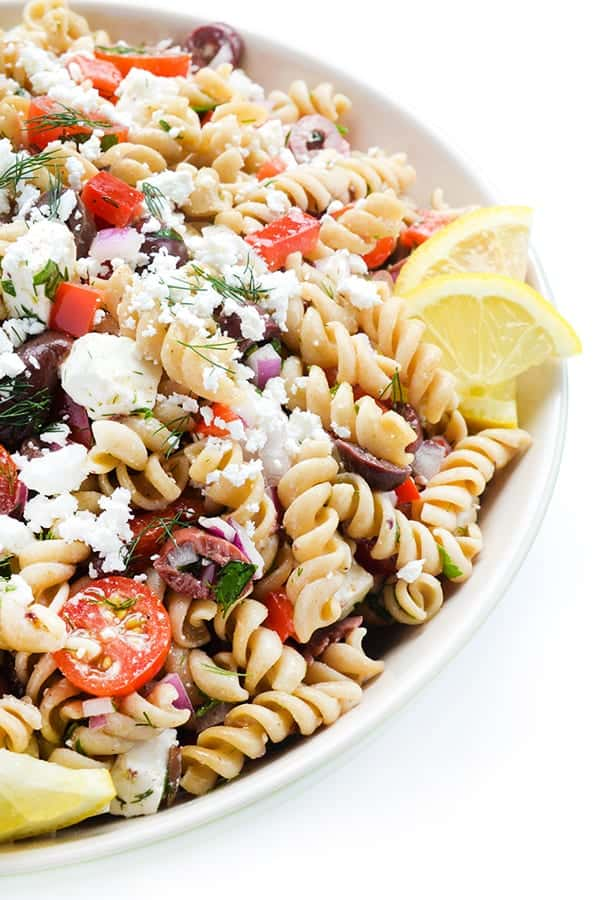 Greek Pasta Salad - a favorful pasta salad recipe for your next picnic