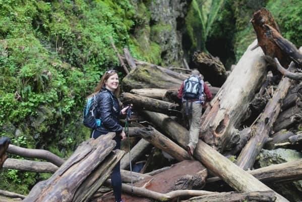 Katie Hiking Through Gorge