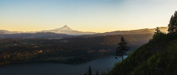 Sunset in Hood River