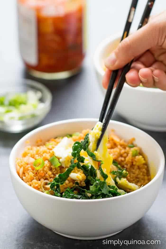 spicy-kimchi-quinoa-bowl- Simply Quinoa