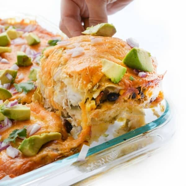 Cheesy Mexican Lasagna with Chicken - a crowd-pleasing dinner recipe
