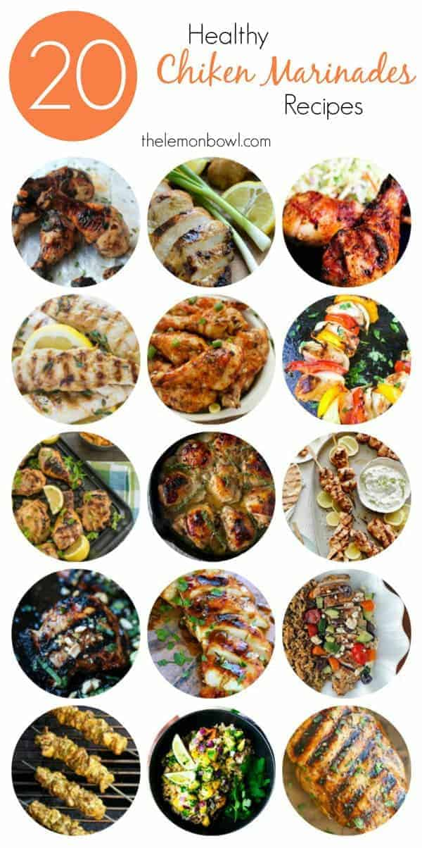 20 Healthy Chicken Marinades for Grilling Season. A collection of twenty healthy chicken marinade recipes to keep you grilling all summer long.