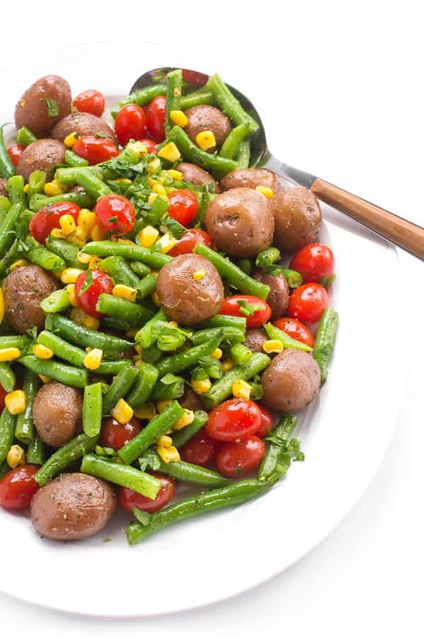 Green Bean and Potato Salad - a fast and easy side dish recipe