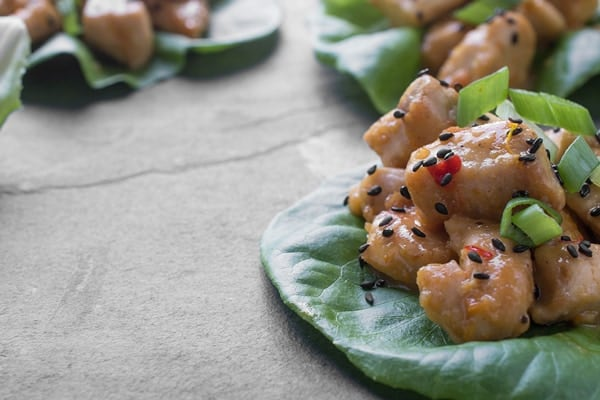 Orange Chicken Lettuce Wraps - a fresh and flavorful appetizer recipe
